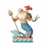 "Jim Shore Figurine - ""Little Mermaid Ariel and Triton"" - 2018"