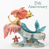 "Jim Shore Figurine - ""Little Mermaid On A Rock Figurine"""
