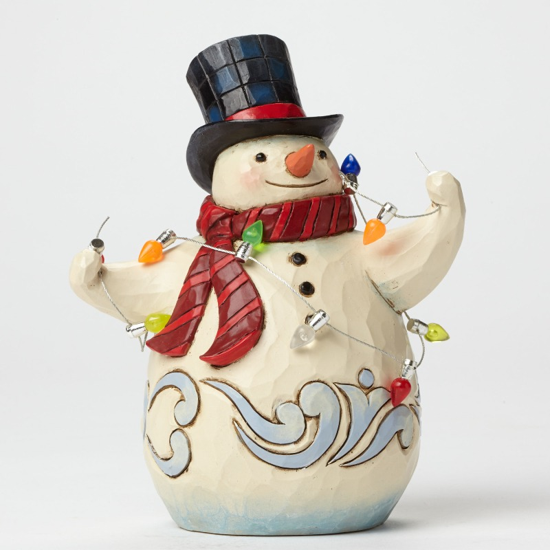 "Jim Shore Figurine - ""Making Seasons Bright Pint Sized Snowman Figurine"""