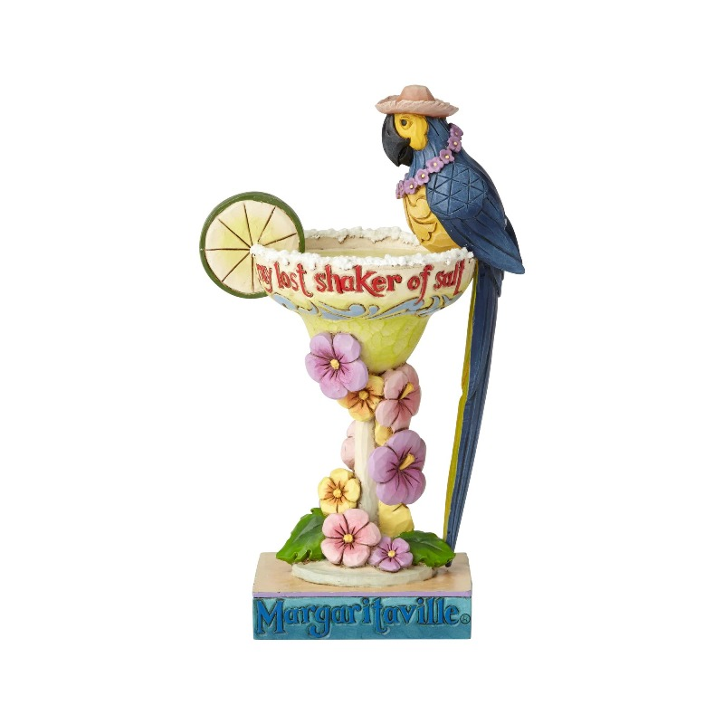 "Jim Shore Figurine - ""Margarita Parrot on Cocktail"" - 2018"