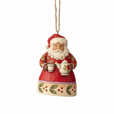 "Jim Shore Figurine - ""Mini Santa with Teapot Ornament"" - 2018"