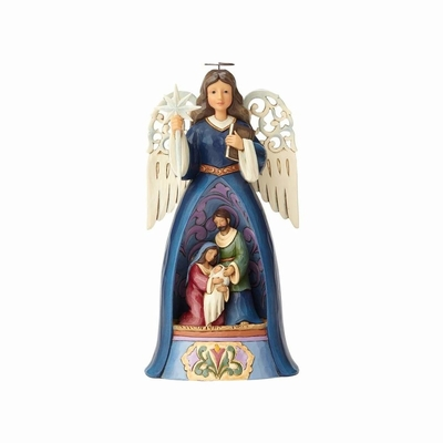 "Jim Shore Figurine - ""Nativity Angel with Pierced Wings"""