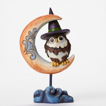 "Jim Shore Figurine - ""Pint Sized Owl on Crescent Moon Figurine"""