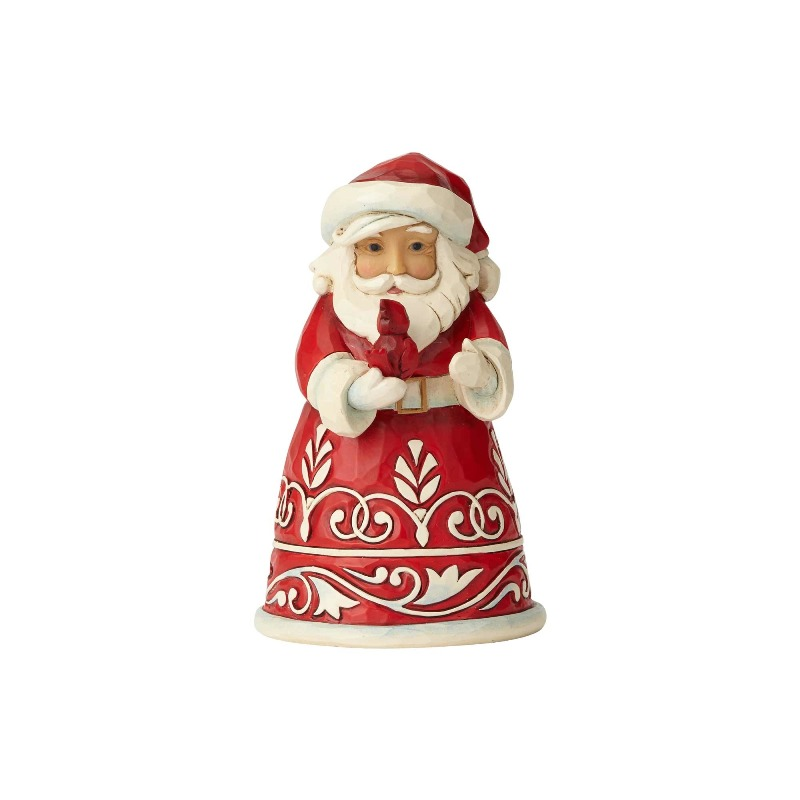 "Jim Shore Figurine - ""Pint Sized Santa with Cardinal"" - 2018"