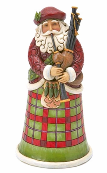 "Jim Shore Figurine - ""Scottish Santa Figurine"""