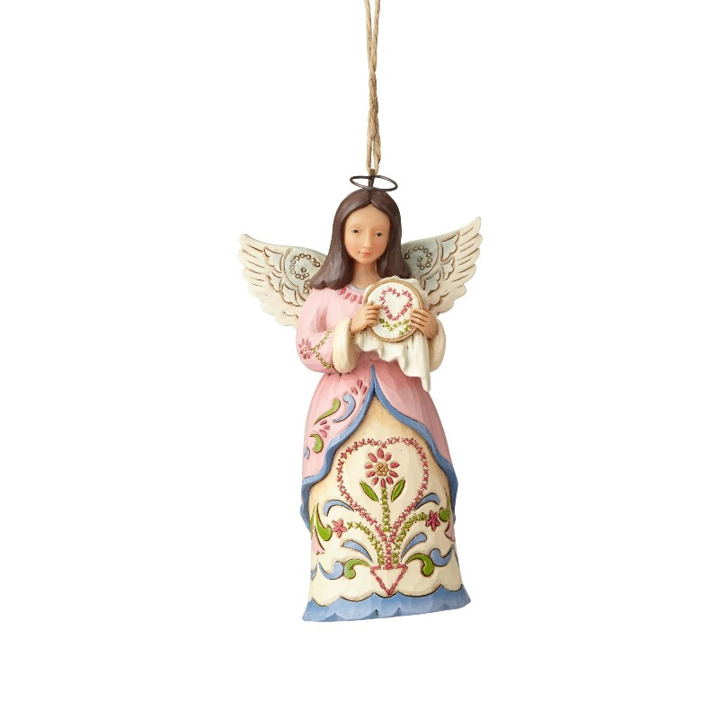 "Jim Shore Figurine - ""Sewing Angel Ornament"" - 2018"