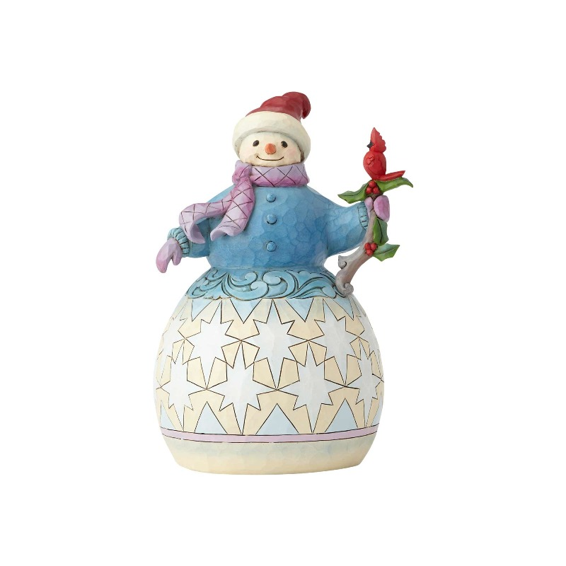 "Jim Shore Figurine - ""Snowman with Cardinal"" - 2018"
