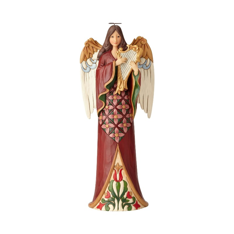 "Jim Shore Figurine - ""Tall Angel with Harp"" - 2018"