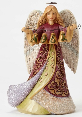 "Jim Shore Figurine - ""Victorian Angel with Bells Figurine"""
