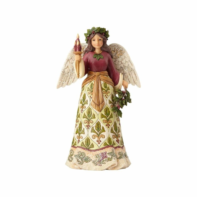 "Jim Shore Figurine - ""Victorian Angel with Candle"""