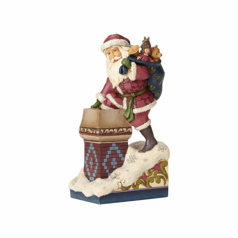 "Jim Shore Figurine - ""Victorian Santa by Chimney"""