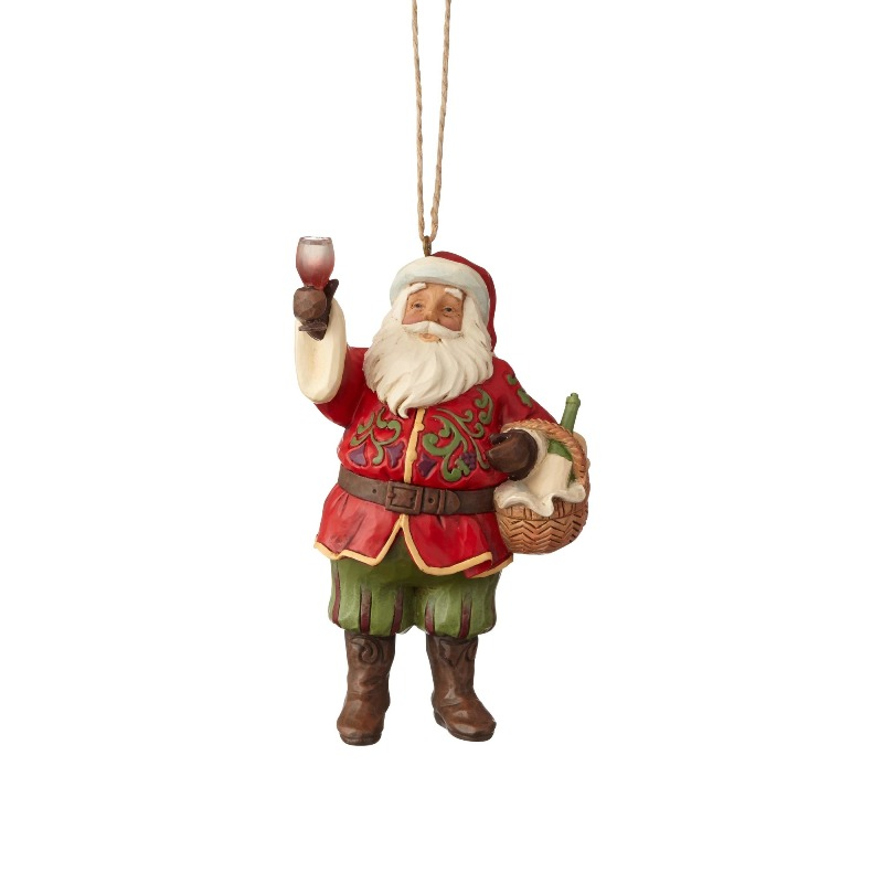 "Jim Shore Figurine - ""Vineyard Santa Ornament"" - 2018"