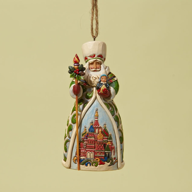 "Jim Shore Figurine - ""Russian Santa Ornament"""