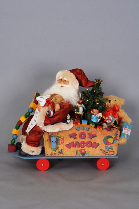 "Karen Didion Santa - ""Lighted Toy Wagon Santa - Signature Series"""