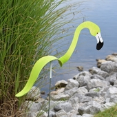 Key Lime Flamingo Dancing Bird® - Decorative Garden Stake