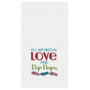 "Kitchen Towel - ""All We Need Is Love And Flip Flops"""