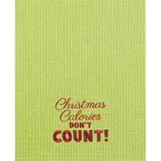 "Kitchen Towel - ""Christmas Calories Embroidered Kitchen Towel"""