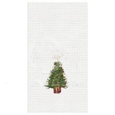 "Kitchen Towel - ""Festive Tree Kitchen Towel"""