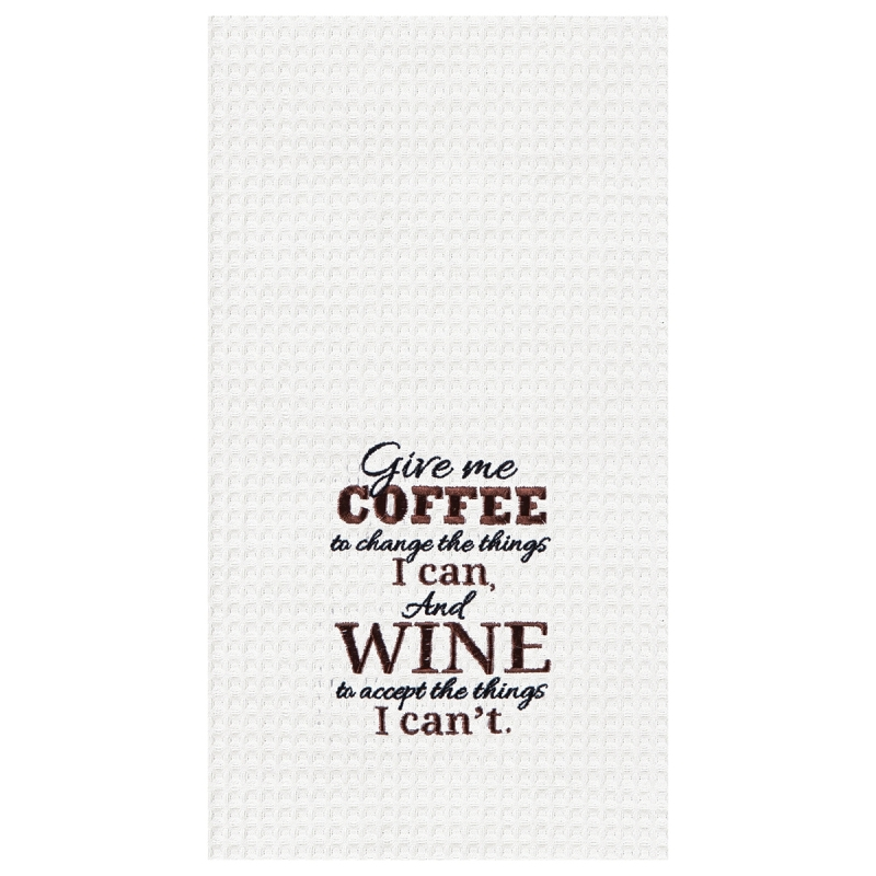 Kitchen Towel - Coffee & Wine - 27in