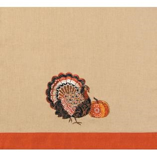 "Kitchen Towel - ""Pumpkin And A Turkey Kitchen Towel"""