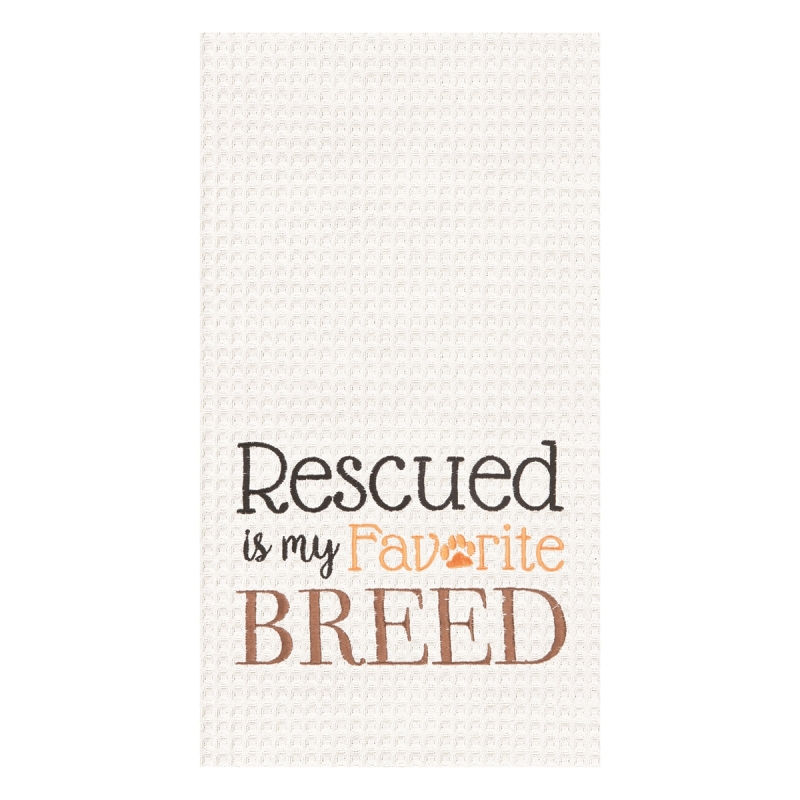 Kitchen Towel - Rescued Favorite Breed - 27in