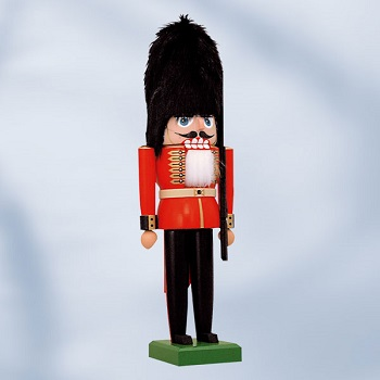 "KWO Authentic German Nutcracker - ""Guard Nutcracker"" - Red"