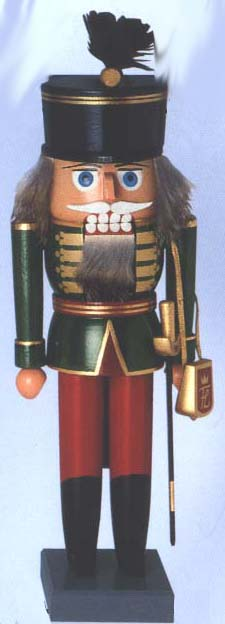"KWO Authentic German Nutcracker - ""Hungarian Hussar Nutcracker"""