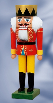 "KWO Authentic German Nutcracker  - ""King Nutcracker"" - 25cm"