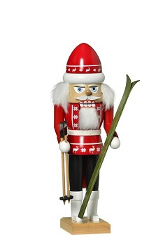 KWO Authentic German Nutcracker - Skier Nutcracker
