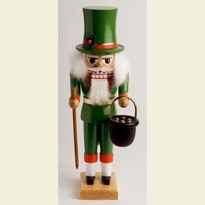 "KWO Authentic German Nutcracker  - ""St. Patrick Nutcracker"""