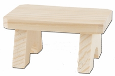 KWO Authentic German Smoker Accessory - Wood Bench for Sitting Smokers