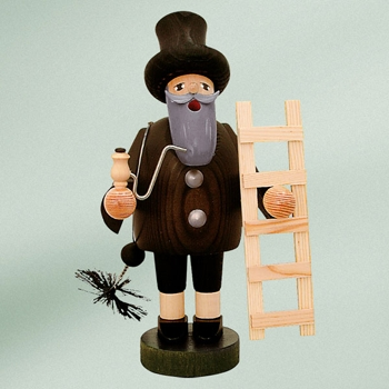 "KWO Authentic German Smoker Man - ""Chimney Sweep Smoker Man"""