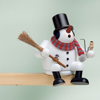 "KWO Authentic German Smoker Man - ""Snowman Smoker Man"""