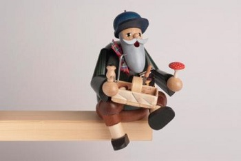 "KWO Authentic German Smoker - ""Mushroom Picker Smoker Man"""