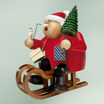 KWO Authentic German Smoker Man - Santa On A Sled Smoker Man