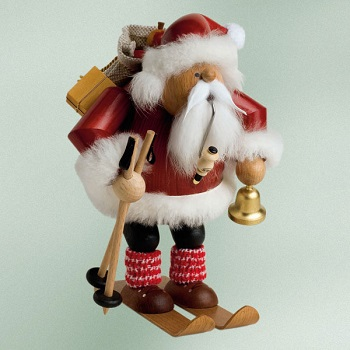 "KWO Authentic German Smoker - ""Santa With Skis Smoker Man"""