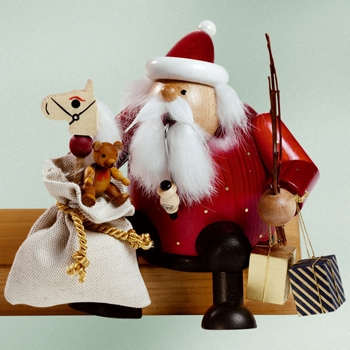 "KWO Authentic German Smoker - ""Sitting Santa Smoker Man"""