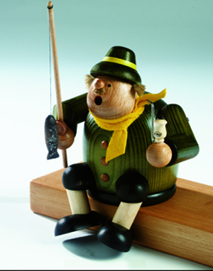 "KWO Authentic Smoker Man - ""Sitting Fisherman Smoker Man"""
