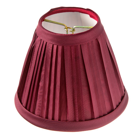 Lamp Shade - Burgundy Pleated - 5 Inch