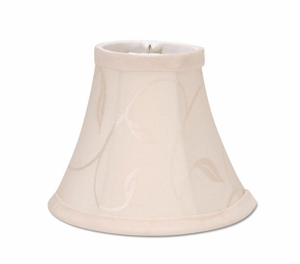 Lamp Shade - Cream Swirl Leaf - 5 Inch