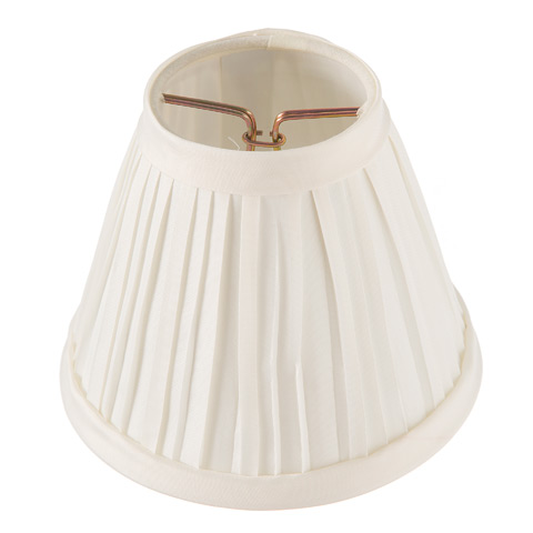 Lamp Shade - Pleated Ivory - 5 Inch