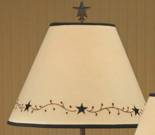 "Lamp Shade - ""Star Vine Lamp Shade"" - 12"""