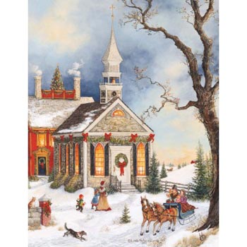Lang Boxed Christmas Cards - Folk Art Christmas - Linda Nelson Stocks