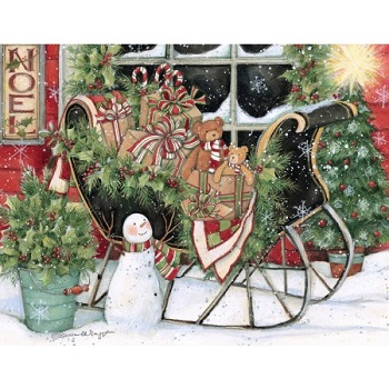 "Lang Boxed Assorted Christmas Cards - ""Heart & Home"" - Artist Susan Winget"