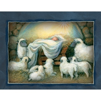"Lang Boxed Assorted Christmas Cards - ""Nativity "" - Artist Susan Winget"