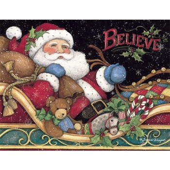 Lang Boxed Christmas Cards - Believe Santa - Susan Winget