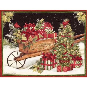 Lang Boxed Christmas Cards - Christmas Delivery - Susan Winget
