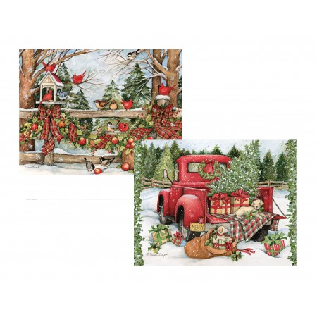 "Lang Boxed Christmas Cards - ""Christmas Journey"" - Artist Susan Winget"