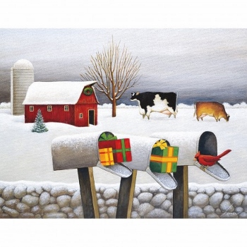 Lang Boxed Christmas Cards - Christmas Surprises - Lowell Herrero