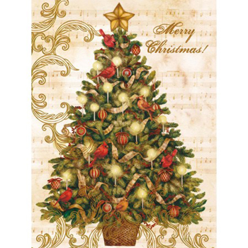 Lang Boxed Christmas Cards - Christmas Tree - Tim Coffey
